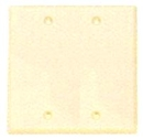 IEC WI20000 Ivory Metal Wall Plate Blank Two Gang Wall Plate