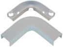 IEC WM1328 Flat Elbow Corner With Base 1-3/4 inch White