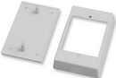 IEC WM1411 Single Gang Surface Mount Shallow (.8 inch deep) Box White