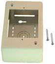 IEC WM2401 Single Gang Surface Mount Deep (1.85 inch deep) Box Ivory