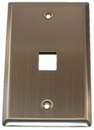 IEC WS10801 Stainless Steel Wall Plate with 1 Cutout for a Keystone Insert