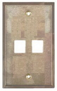 IEC WS10802 Stainless Steel Wall Plate with 2 Cutout for a Keystone Inserts
