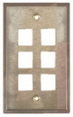 IEC WS10806 Stainless Steel Wall Plate with 6 Cutout for a Keystone Inserts