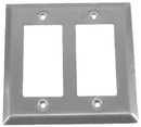 IEC WS20002 Stainless Steel Two Gang Wall Plate with 2 Decora Cutouts