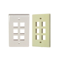 IEC WX10806 Wall Plate with 6 Cutout for a Keystone Insert - Beige Plastic