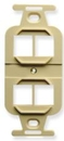 IEC WZ00704 Ivory Duplex Receptacle Insert with Four Keystone Cutouts