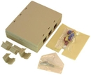 IEC WZ00806 Ivory Plastic SurfaceBox with 6 Cutouts for up to six Keystone Inserts