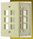 IEC WZ10806 Ivory Plastic Wall Plate with 6 Cutouts for Keystone Inserts