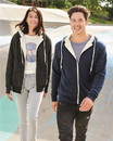 Independent Trading EXP90SHZ Unisex Heavyweight Sherpa Lined Heather Zip Hood