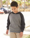 Independent Trading PRM15YSB Youth Lightweight Special Blend Raglan Hooded Pullover