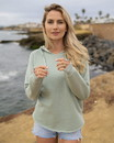Independent Trading PRM2500 Womens California Wave Wash Hoodie