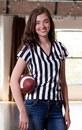 In Your Face Apparel B02 Women's V-Neck Referee Shirt