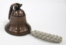 India Overseas Trading AL 1843B Antique Bronze Aluminum Ship Bell with Rope, 4
