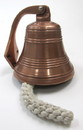 India Overseas Trading AL 1844CO Copper Aluminum Ship Bell with Rope, 6