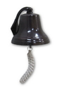 India Overseas Trading AL 1844C Antique Copper Aluminum Ship Bell with Rope, 6