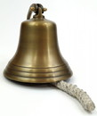 India Overseas Trading AL 1845B Antique Bronze Aluminum Ship Bell with Rope, 7