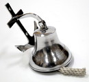 India Overseas Trading AL 1880 Chrome Finish Aluminum Wall Anchor Ship Bell with Rope, 6.5