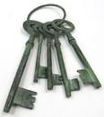 India Overseas Trading AL 20450 Aluminum Jail Keys Patina