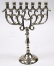 India Overseas Trading AL 2291 Aluminum 7-Branch Temple Menorah, 9.5