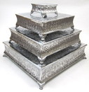India Overseas Trading AL 4182 Four-Tiered Square Cake Stand