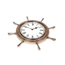 India Overseas Trading AL 48250 Aluminum Ship Wheel Clock (7082), 18
