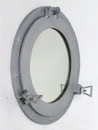 India Overseas Trading AL 4861 Aluminum Porthole with Mirror, 15