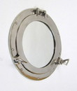 India Overseas Trading AL4870S - Aluminum Porthole Mirror Chrome Plated, 11""