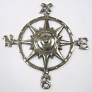 India Overseas Trading AL 51120 Aluminum Rose Compass 12