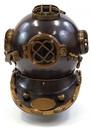 India Overseas Trading AL5255B Aluminum Diver's Helmet, Mark Five
