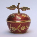 India Overseas Trading BR 10872 Painted Brass Apple Box