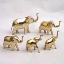 India Overseas Trading BR 1290 Solid Brass Elephant Statue Set