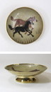 India Overseas Trading BR 1475A Brass Bowl, Horse Enameled