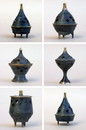 India Overseas Trading BR 1601A Brass Incense Cone Burner Set