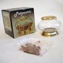 India Overseas Trading BR 1680 Brass Glass Potpourri