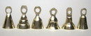 India Overseas Trading BR1800 - Solid Brass Bells, 6 Assorted Shapes, Engraved