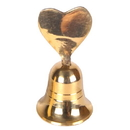 India Overseas Trading BR 18501 Vintage Brass Heart Bell. Vintage Heart Bell. Brass Bell Heart. Gold Heart Bell