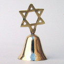 India Overseas Trading BR 1850 Brass Bell, Star of David