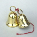 India Overseas Trading BR 18524 Brass Christmas Bell Pair