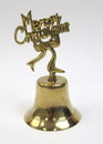 India Overseas Trading BR 1852 Solid Brass Merry Christmas Hand Bell