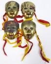 India Overseas Trading BR 2005 Brass Enamel Masks (set of 4)