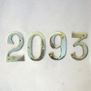 India Overseas Trading BR 2008 Solid Brass House Numbers