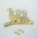 India Overseas Trading BR 20246 Three Swan Key Holder, Brass
