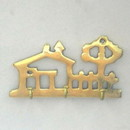 India Overseas Trading BR 20264 Brass Key Holder, House
