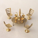 India Overseas Trading BR2041 - Mini Brass Dining Set