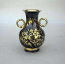 India Overseas Trading BR 21452 Solid Brass Vase, Etched w 2 Handles
