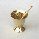 India Overseas Trading BR 21621 Solid Brass Mortar & Pestle