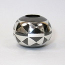 India Overseas Trading BR 21755 Round Vase with Geometric Design