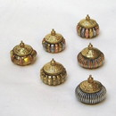 India Overseas Trading BR 2306 Tricolor Brass Container Set of 6