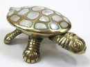 India Overseas Trading BR23073 Brass & Mother of Pearl Turtle Box