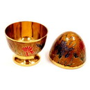 India Overseas Trading BR 2335 Solid Brass Egg Box With Stand, Enamel